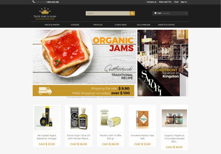 web design ecommerce tasteforluxury
