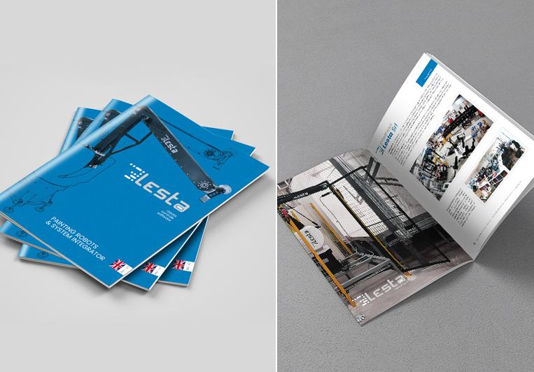 progetto grafico catalogo Lesta Srl
